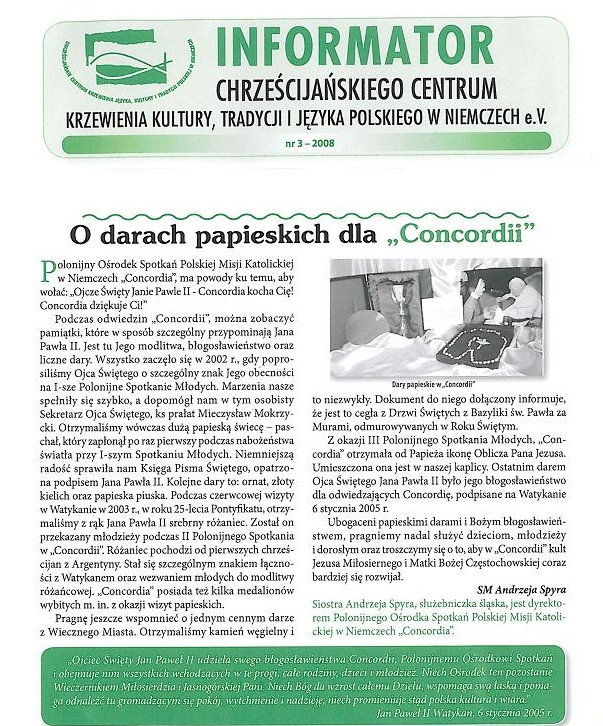 Chrześcijańskie Centrum Artykuły